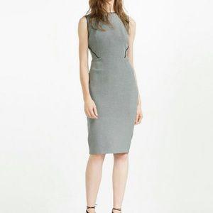 Zara Grey Marl Tube Piping Work/Office Dress - S